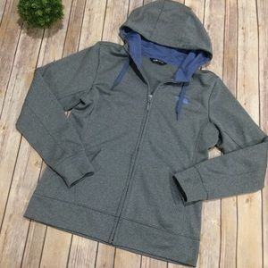 The North Face   Gray Blue Full Zip Jacket Hoodie